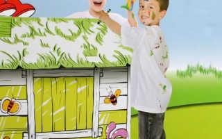 Детская раскраска дом