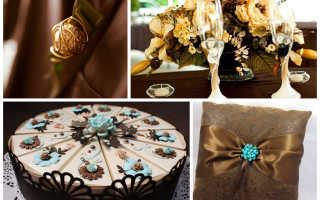 Шоколадная свадьба фото
