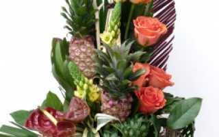 Букет цветов для молодого человека