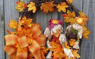 Осенний декор в детском саду