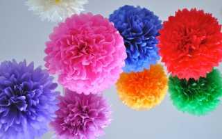 Украшение комнаты бумажными цветами