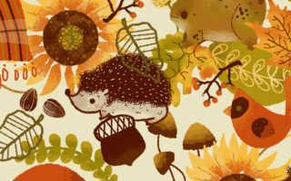Осенний интерьер в детском саду