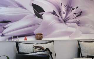 Из чего делают цветы на стену