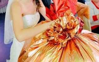 Прикольный подарок на свадьбу своими руками