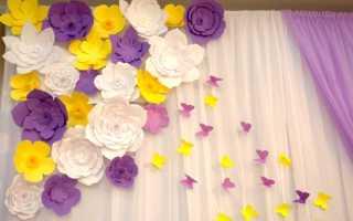 Цветы из бумаги на потолок