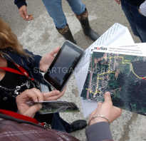 Карта маршрута для квеста в планшете