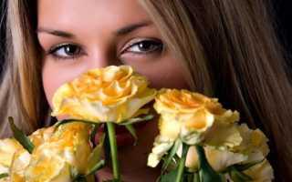 Цветы с девушкой