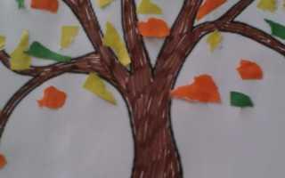 Аппликация на тему осень в детском саду