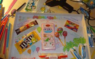 Плакат с шоколадками на день рождения фото