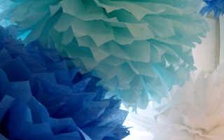 Украшение сцены бумажными цветами