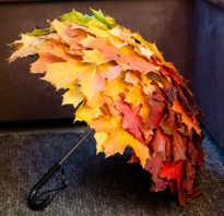 Поделка из осенних листьев в детский сад